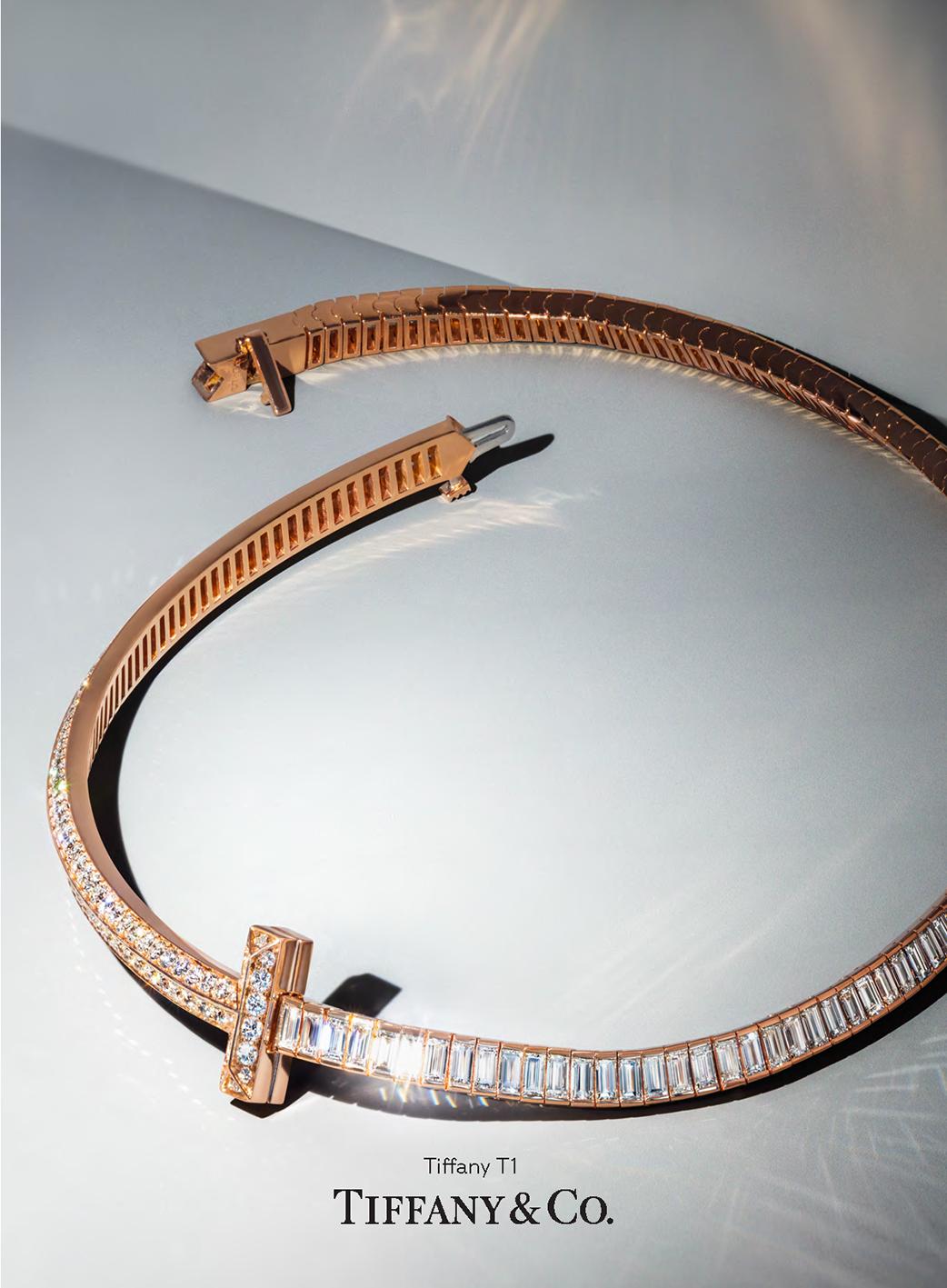 Collar T1 oro rosa diamantes