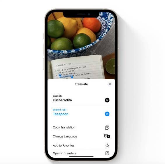 Live Text, la nueva función de macOS y iOS 15