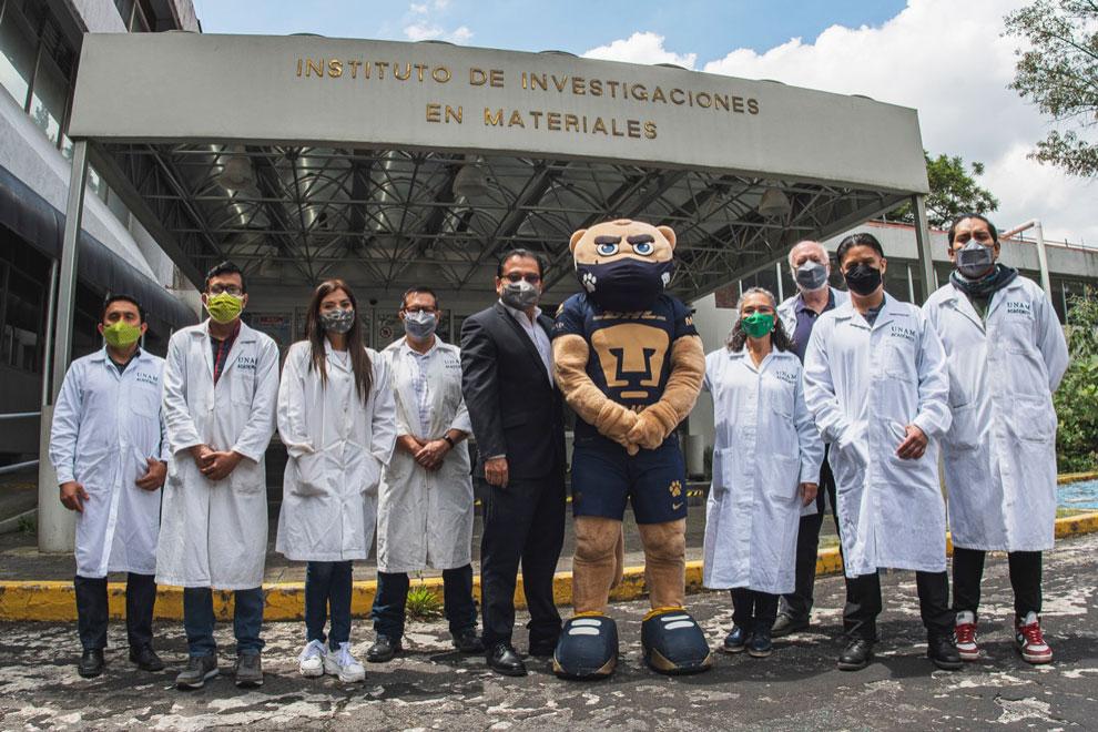 Investigadores de la UNAM desarrollan cubrebocas que puede inactivar el covid-19
