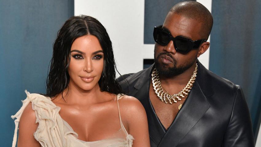 Kanye West y Kim Kardashian se casan nuevamente sobre el escenario