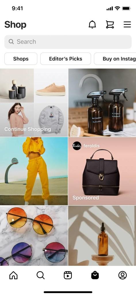 Instagram inaugura anuncios publicitarios en la pestaña de Instagram Shop