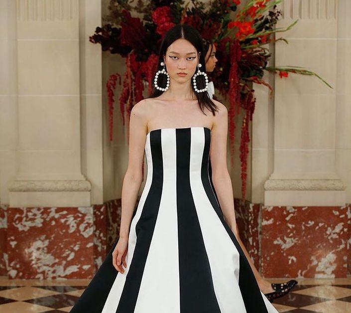 Carolina Herrera le puso color al blanco y negro en el New York Fashion Week