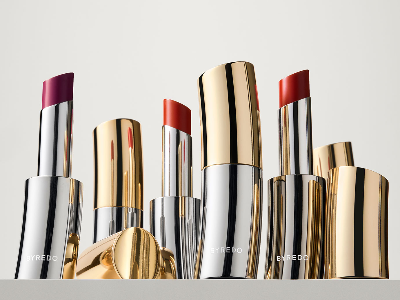 BYREDO Lipstick, available in 15 shades.