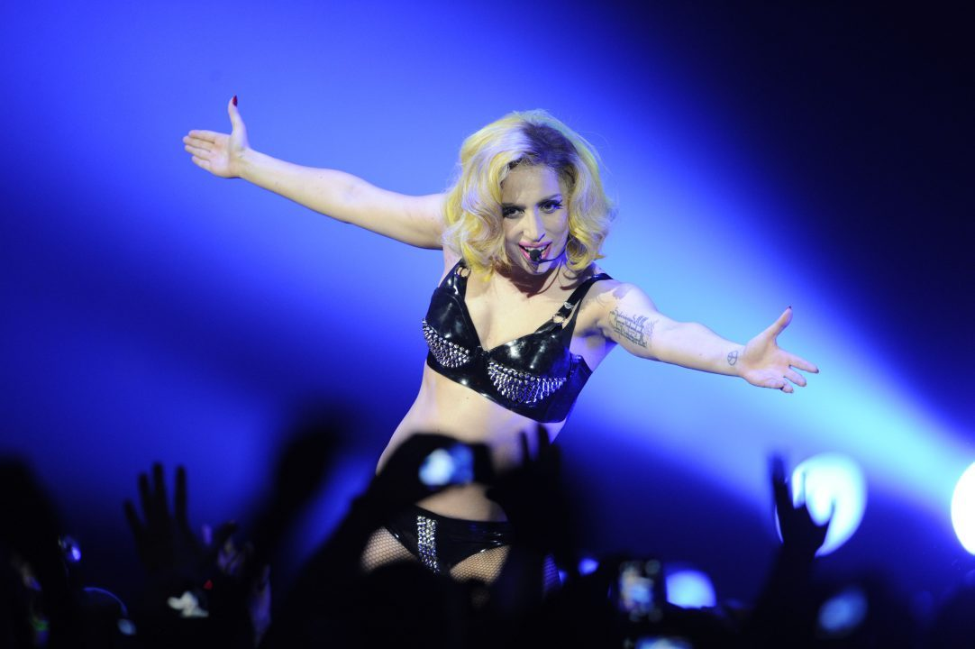 Lady Gaga performing at the ACC Sunday night in Toronto in 2010.