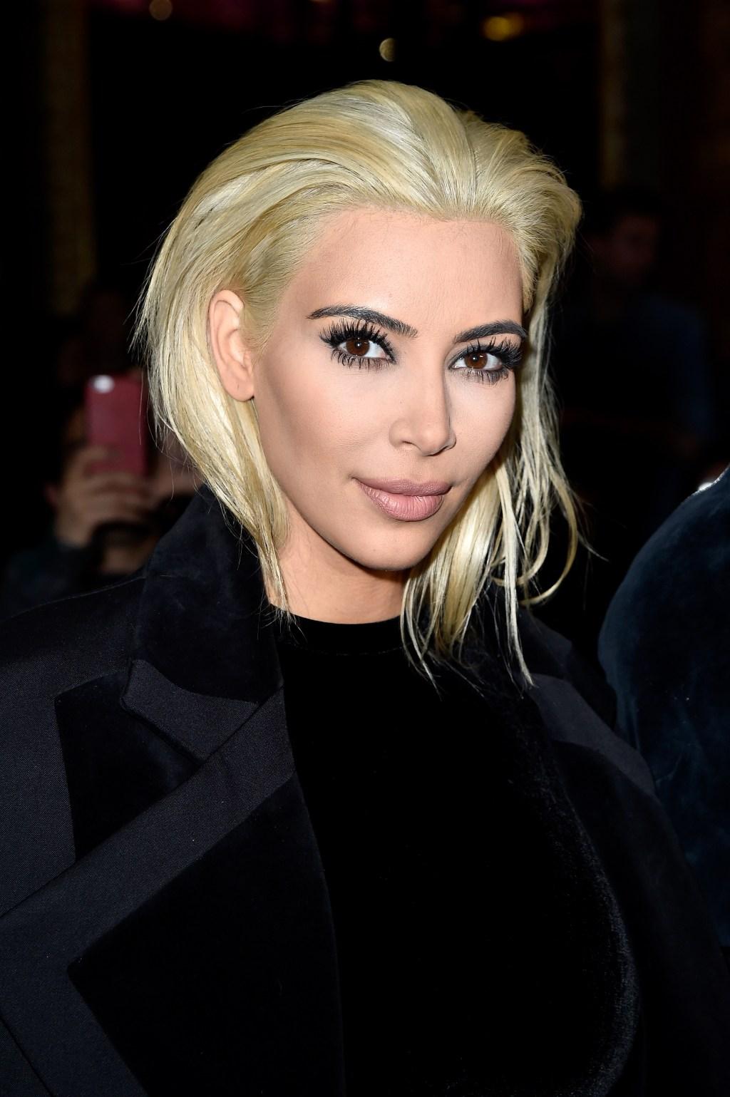 Kim Kardashian Balmain Paris Fashion Week 2015