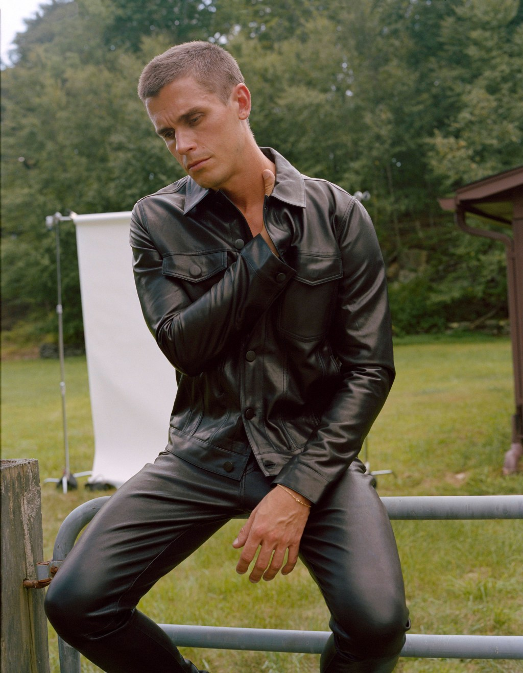 Antoni and J Brand Leather Outfit
