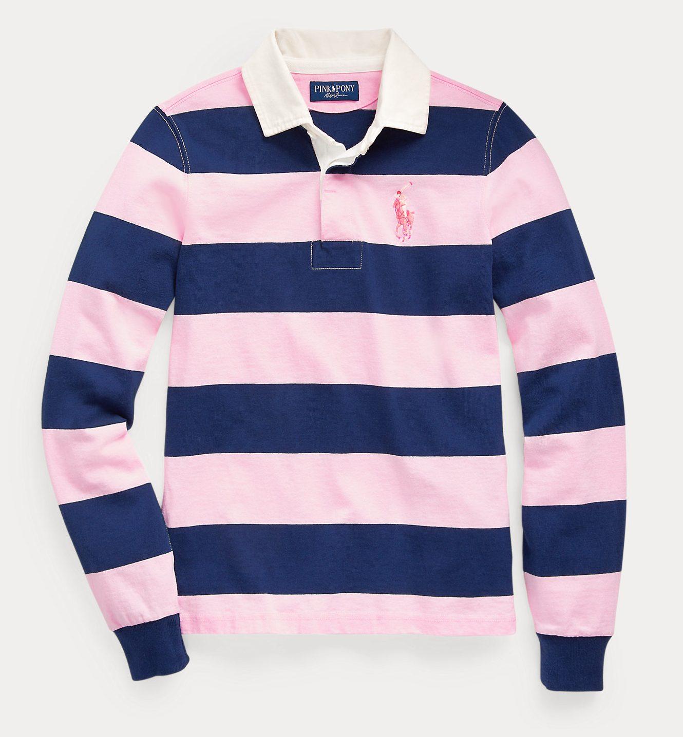 Ralph Lauren Pink Pony Rugby Shirt