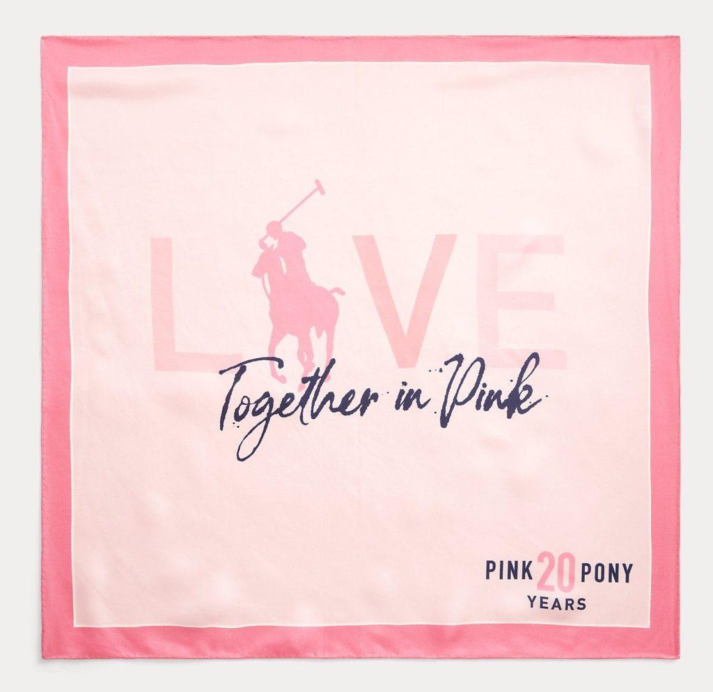 Ralph Lauren Pink Pony Silk Bandana