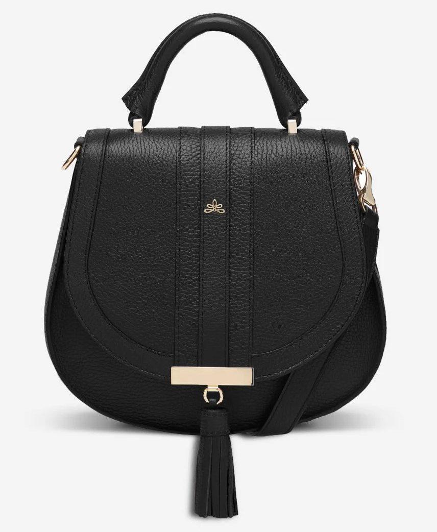 DeMellier London Mini Venice Bag in Black Grain