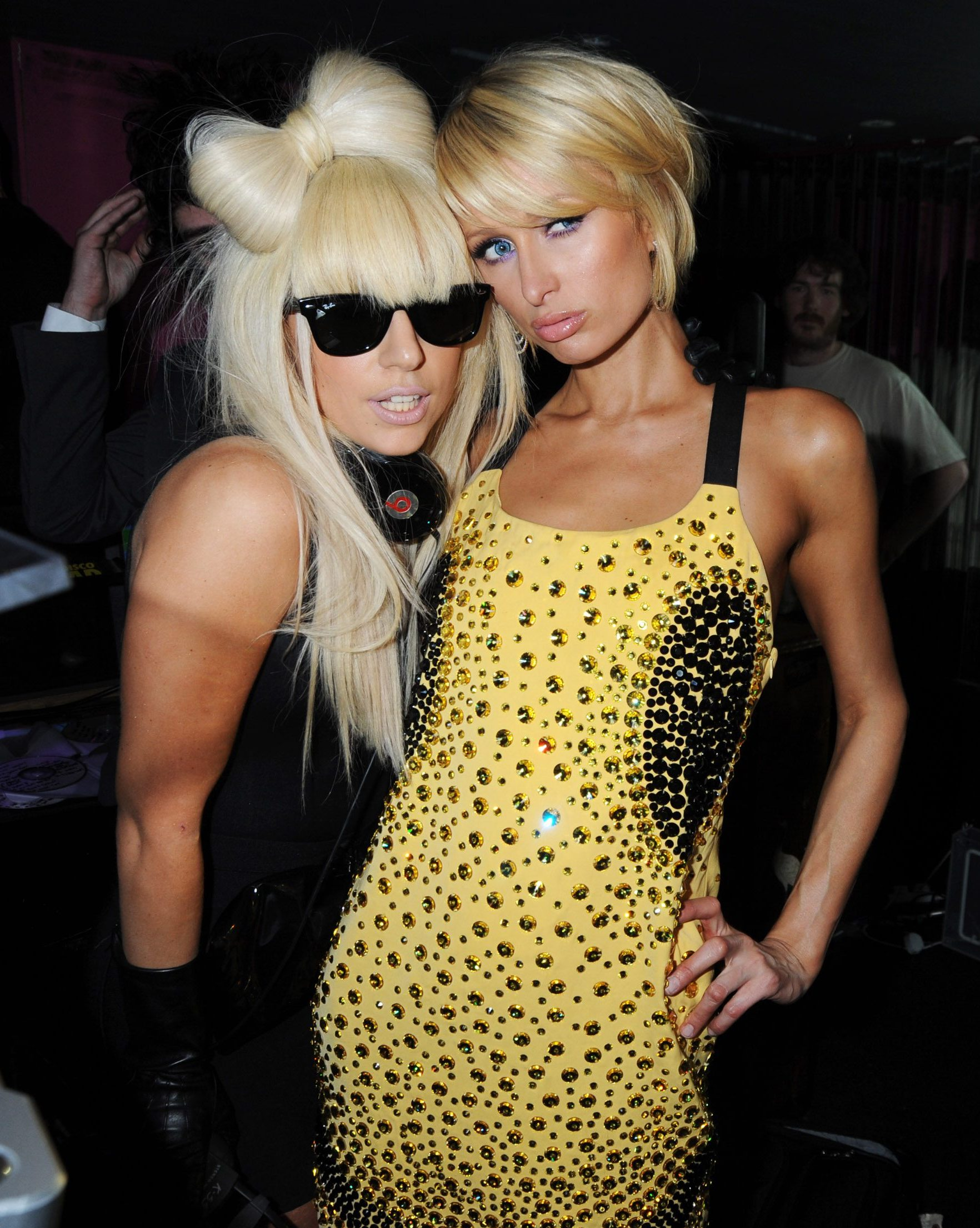 Lady Gaga and Paris Hilton Lady GaGa and Paris Hilton attend the Nokia 5800 launch party, at Punk in 2009