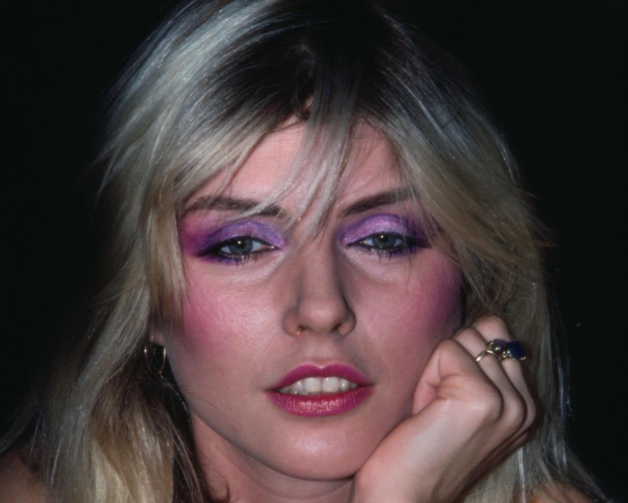 Debbie Harry purple eyeshadow