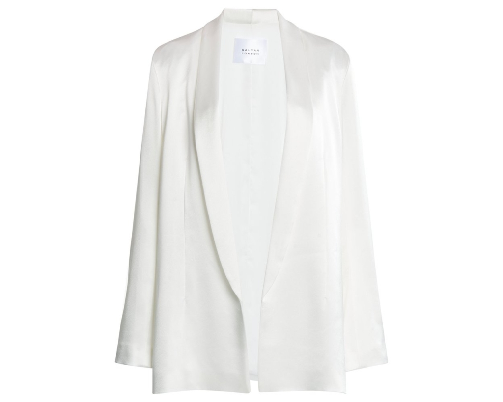 Galvan White Blazer, inspired by the suffragette suit Kamala Harris wore during victory speech