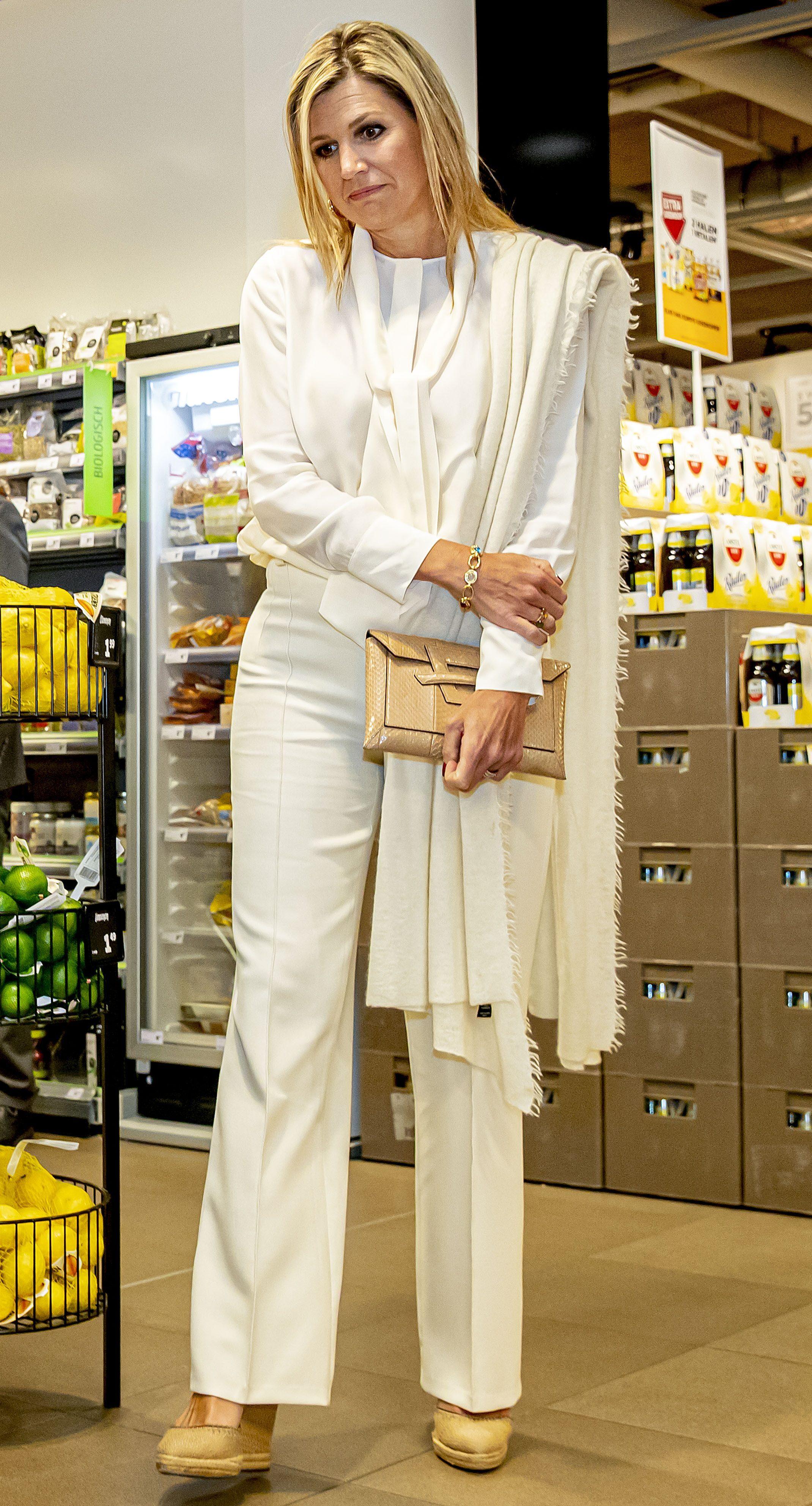 Queen Maxima Visits Jumbo Supermarket In Nijmegen