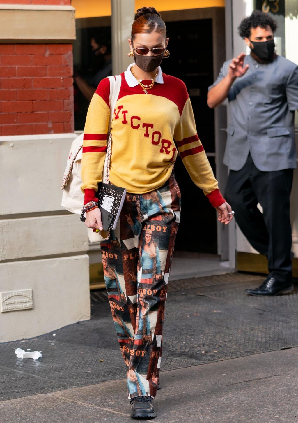 Bella Hadid's Playboy pants