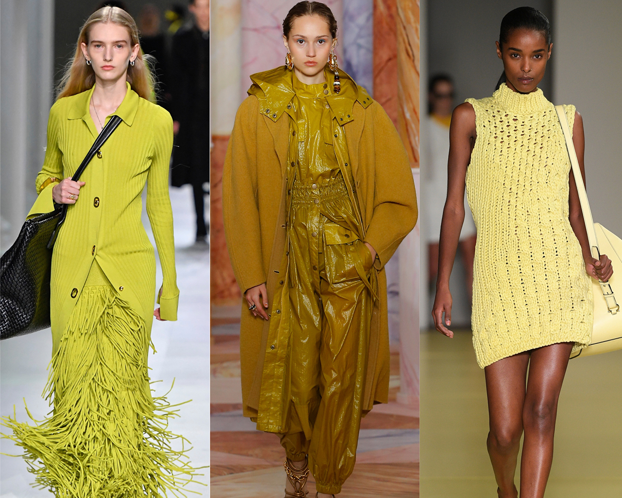 Chartreuse on the runway