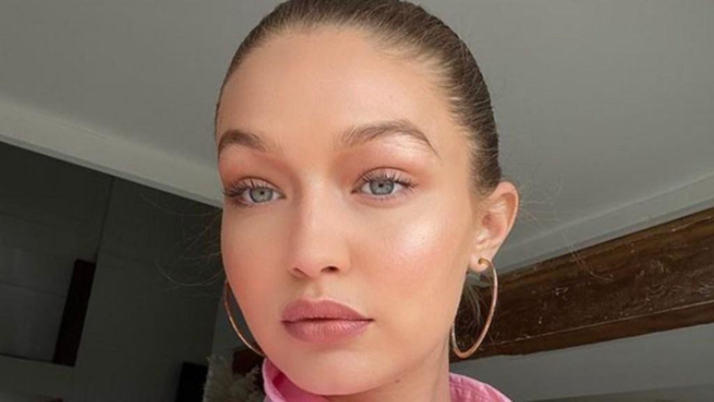 gigi hadid goes makeup-free
