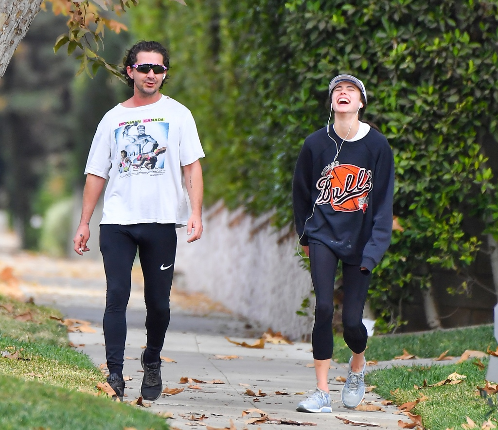 Shia LaBeouf and Margaret Qualley