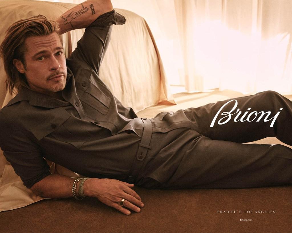 Naturally, Brad Pitt Is Looking Very Good In Brioni - Grazia USA