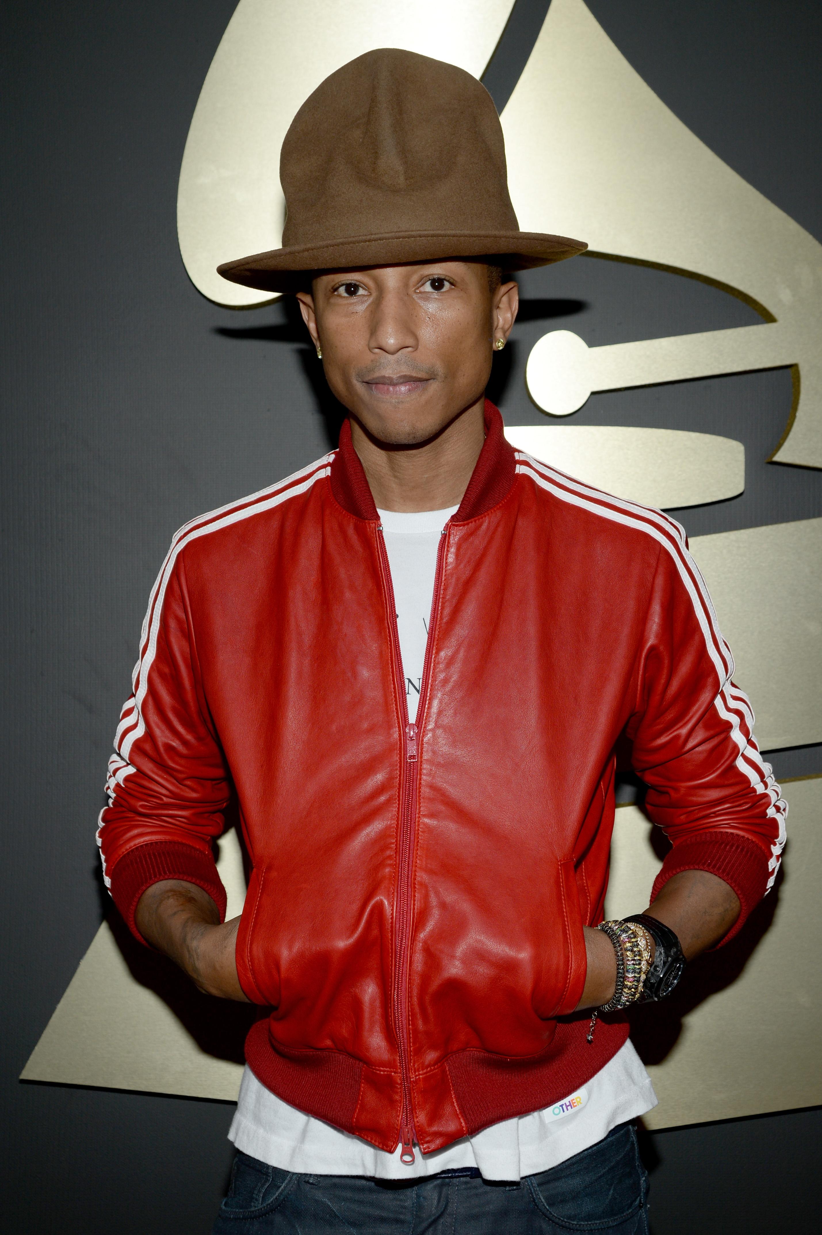 Pharrell at the Grammy's