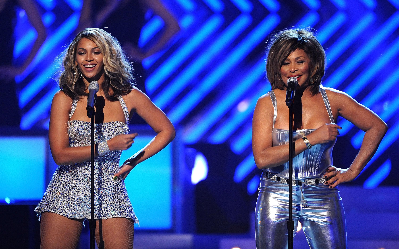 Tina Turner and Beyonce