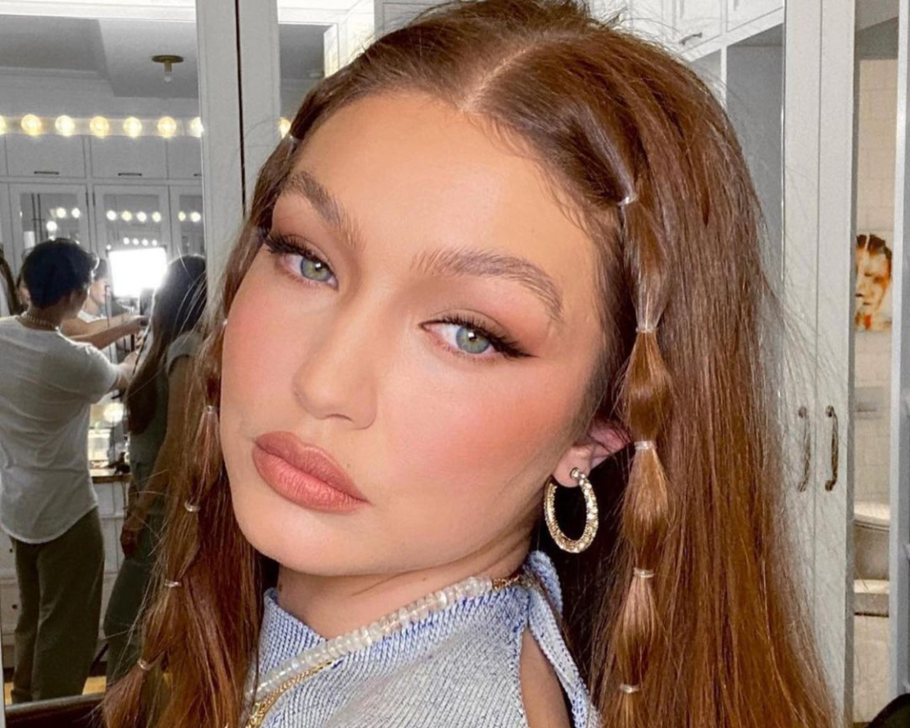Gigi Hadid, bubble braids,
