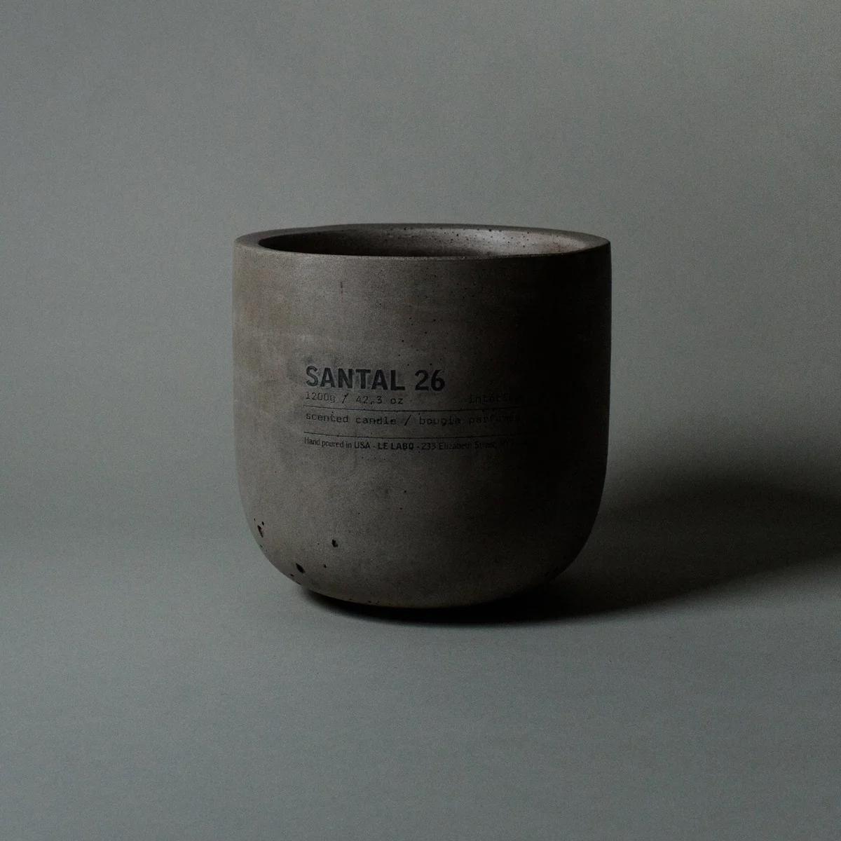 Santal Grey Concrete Candle