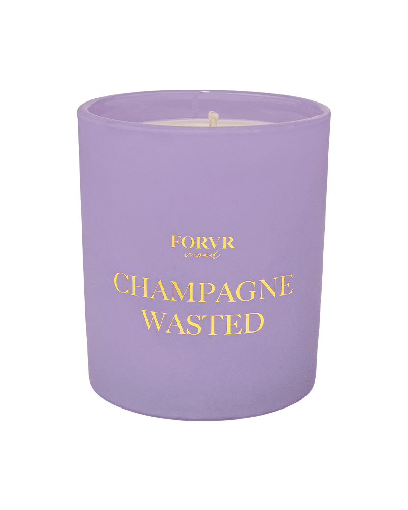 Champagne Wasted Candle