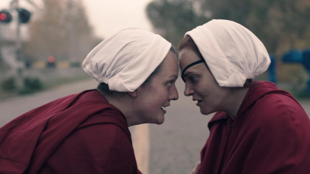 Elisabeth Moss and Madeline Brewer in 'The Handmaid's Tale'