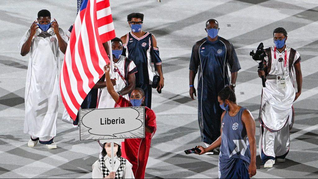 The Liberian Olympic team