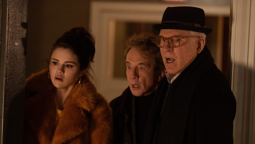Selena Gomez, Martin Short and Steve Martin in Only Murders in the Building