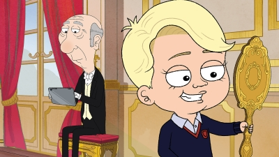Owen the Butler and Prince George (voiced by Alan Cumming and Gary Janetti)