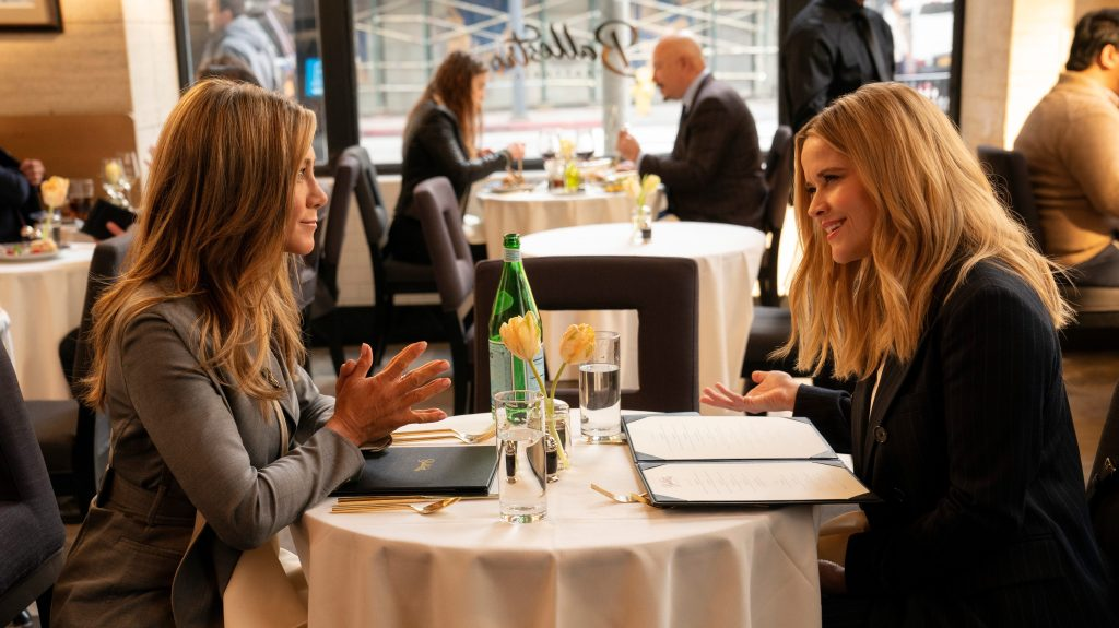 Jennifer Aniston and Reese Witherspoon in <i>The Morning Show</i>
