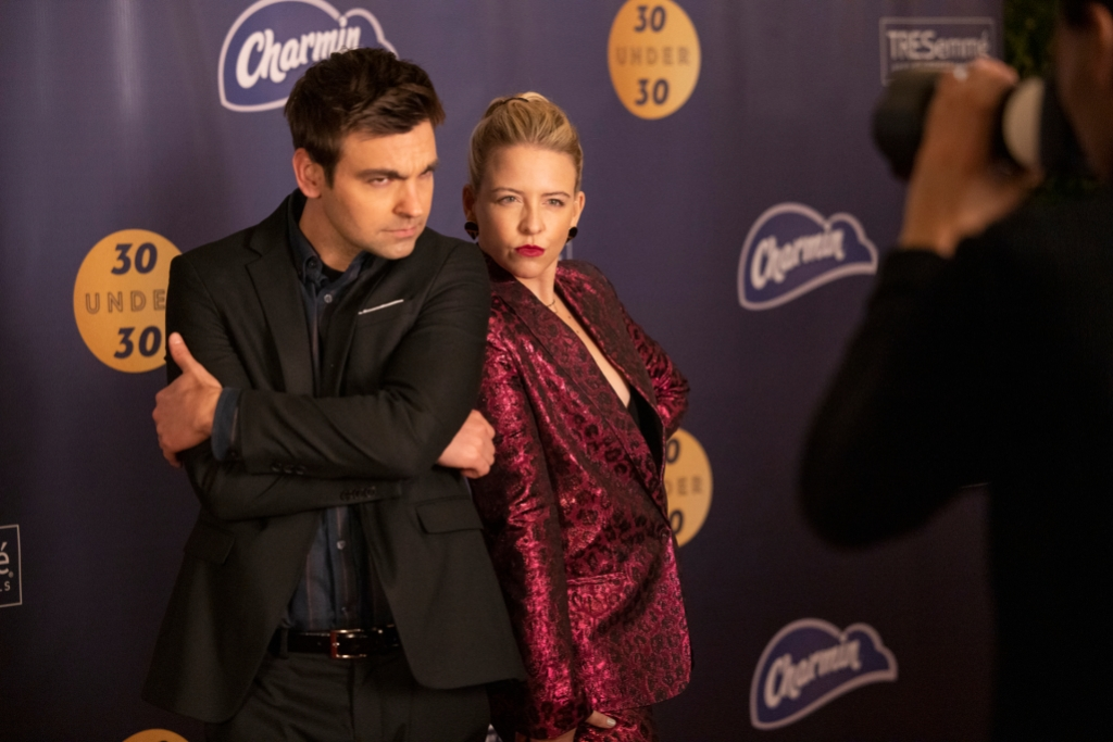 Yorke (right) with Drew Traver in <i>The Other Two</i>