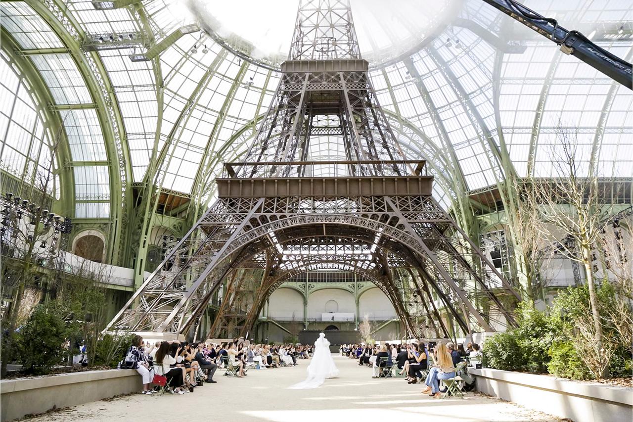 Karl Builds His Own La Tour Eiffel As Chanel Clocks Haute Couture Beauty - Grazia