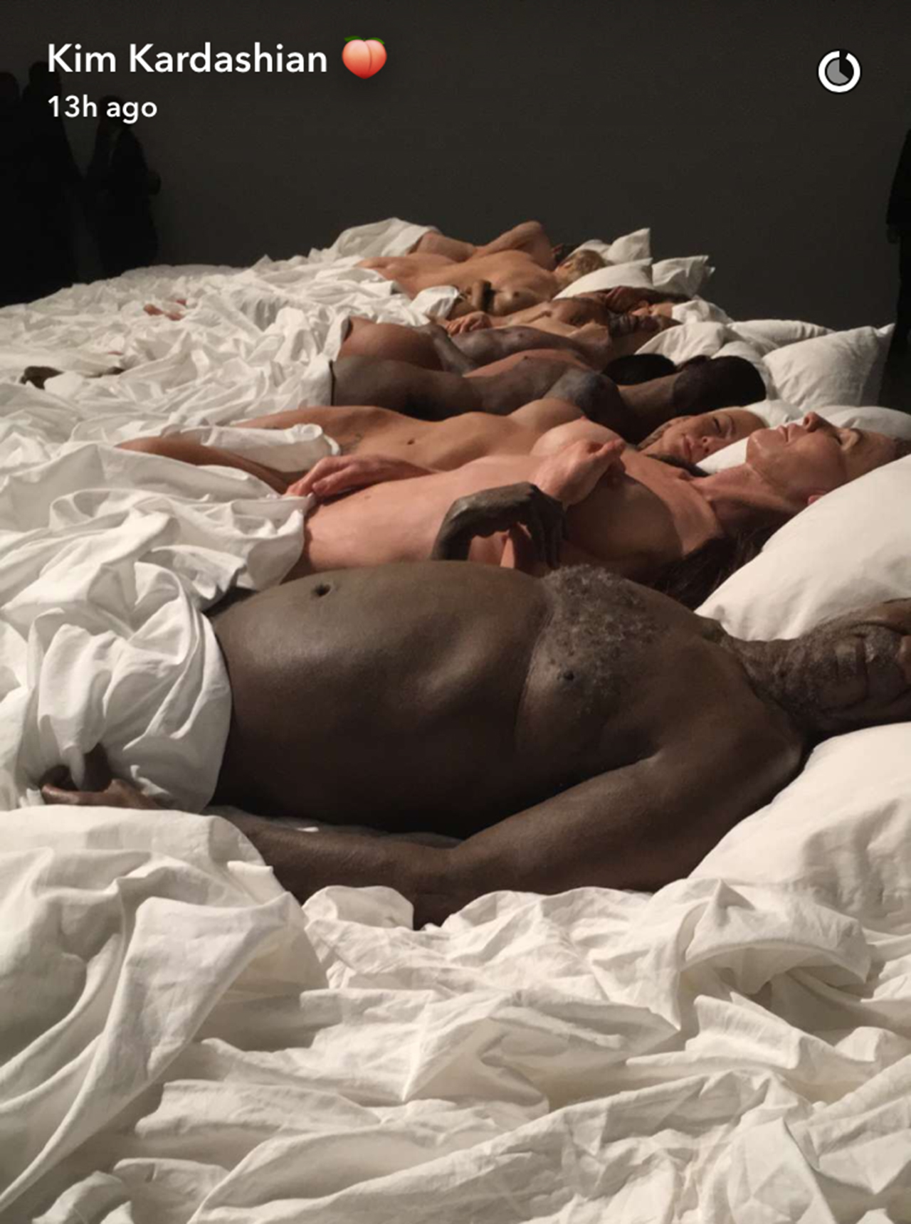 Kanye West holds an exhibit of the bed and wax figures