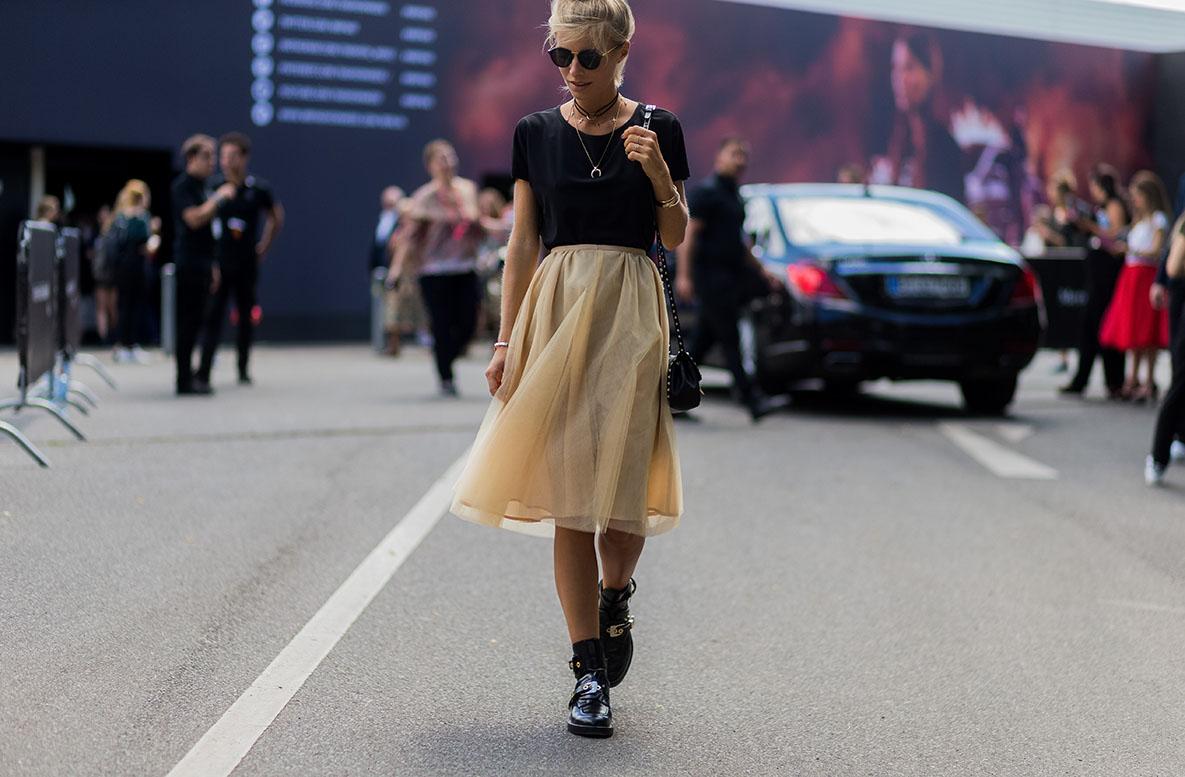 res German blogger Debi Fluegge at Berlin FW SS17 last week GettyImages543707160