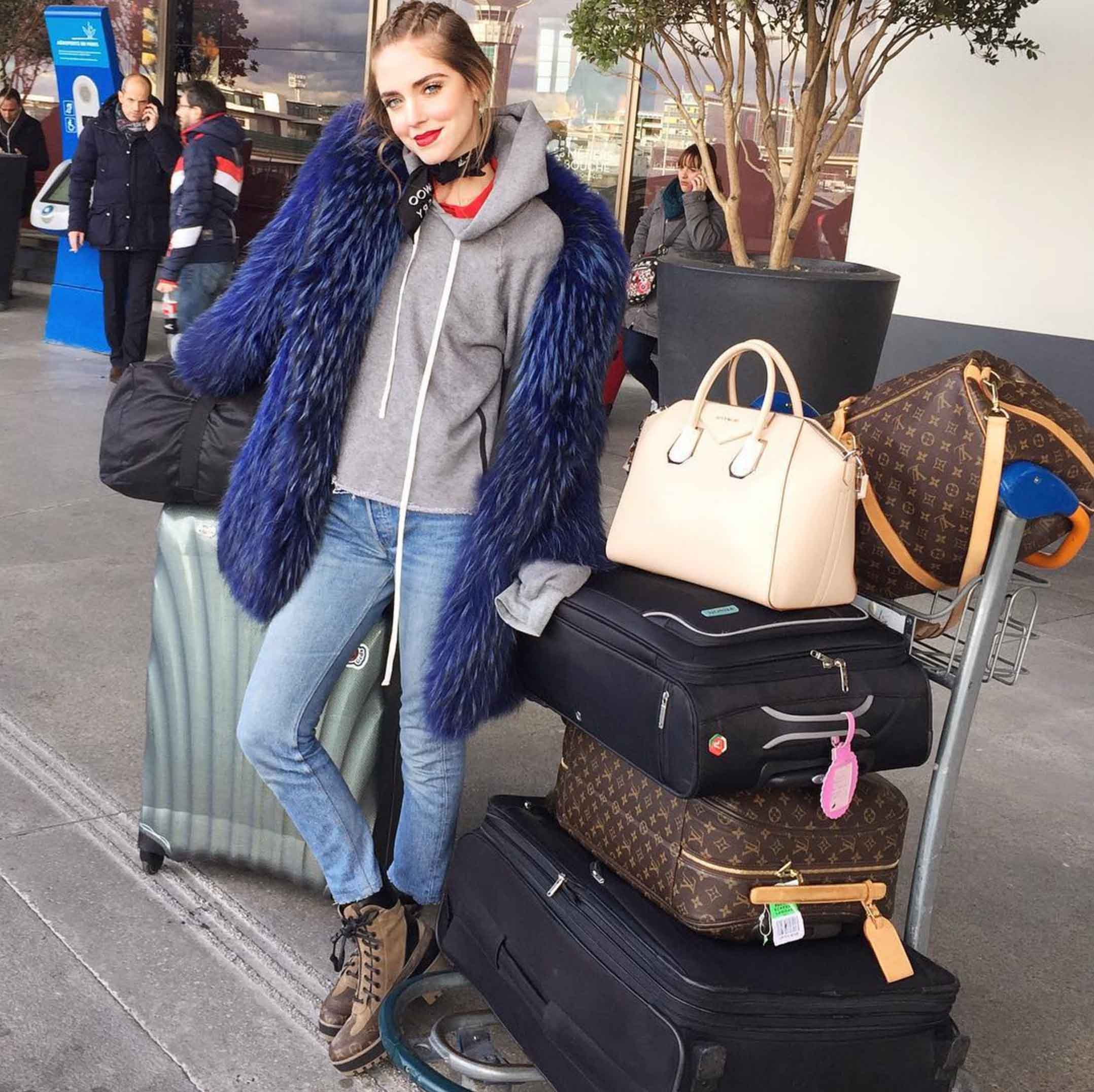 A lady can never have too much luggage