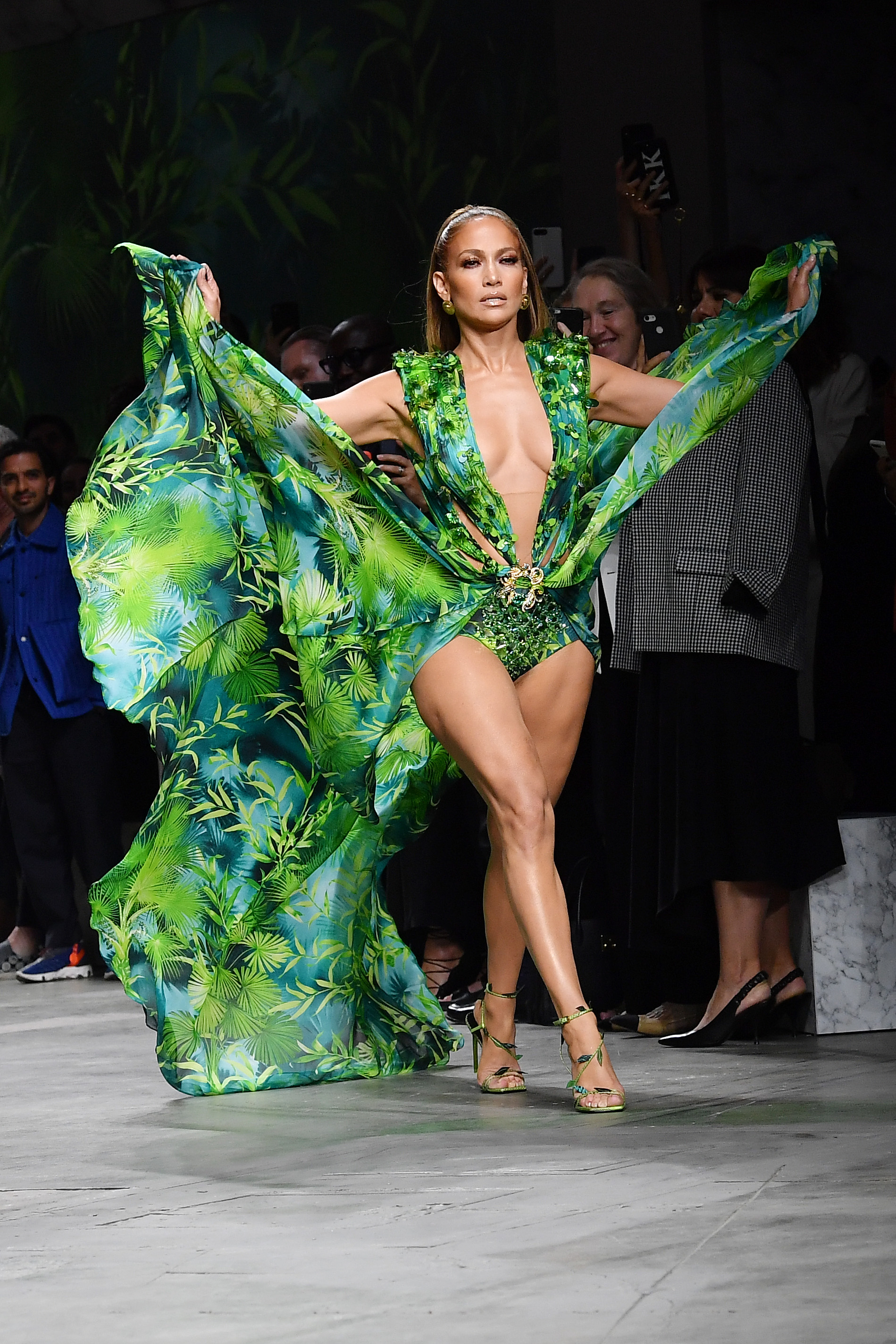 Jennifer Lopez walks Versace show