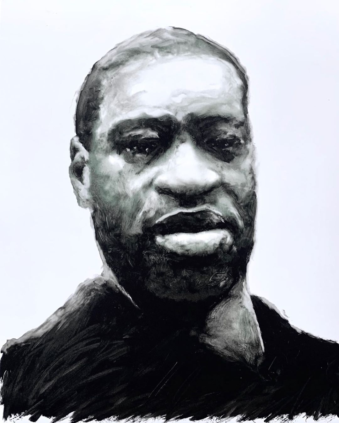 John Ratajkowksi's portrait of George Floyd