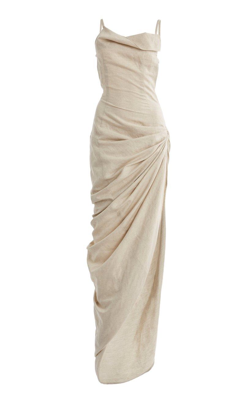 fab five draped dress