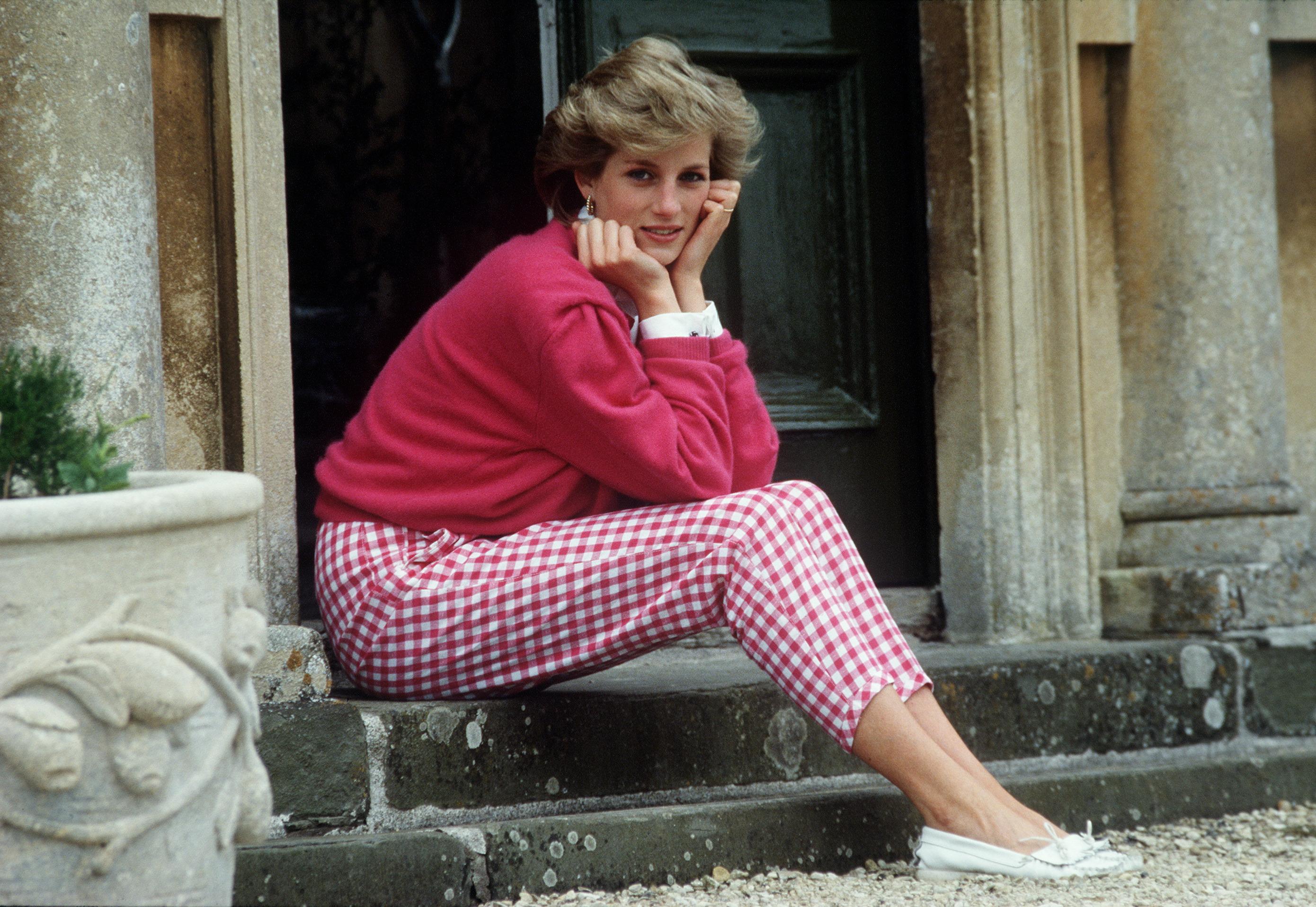 Princess Diana in pink