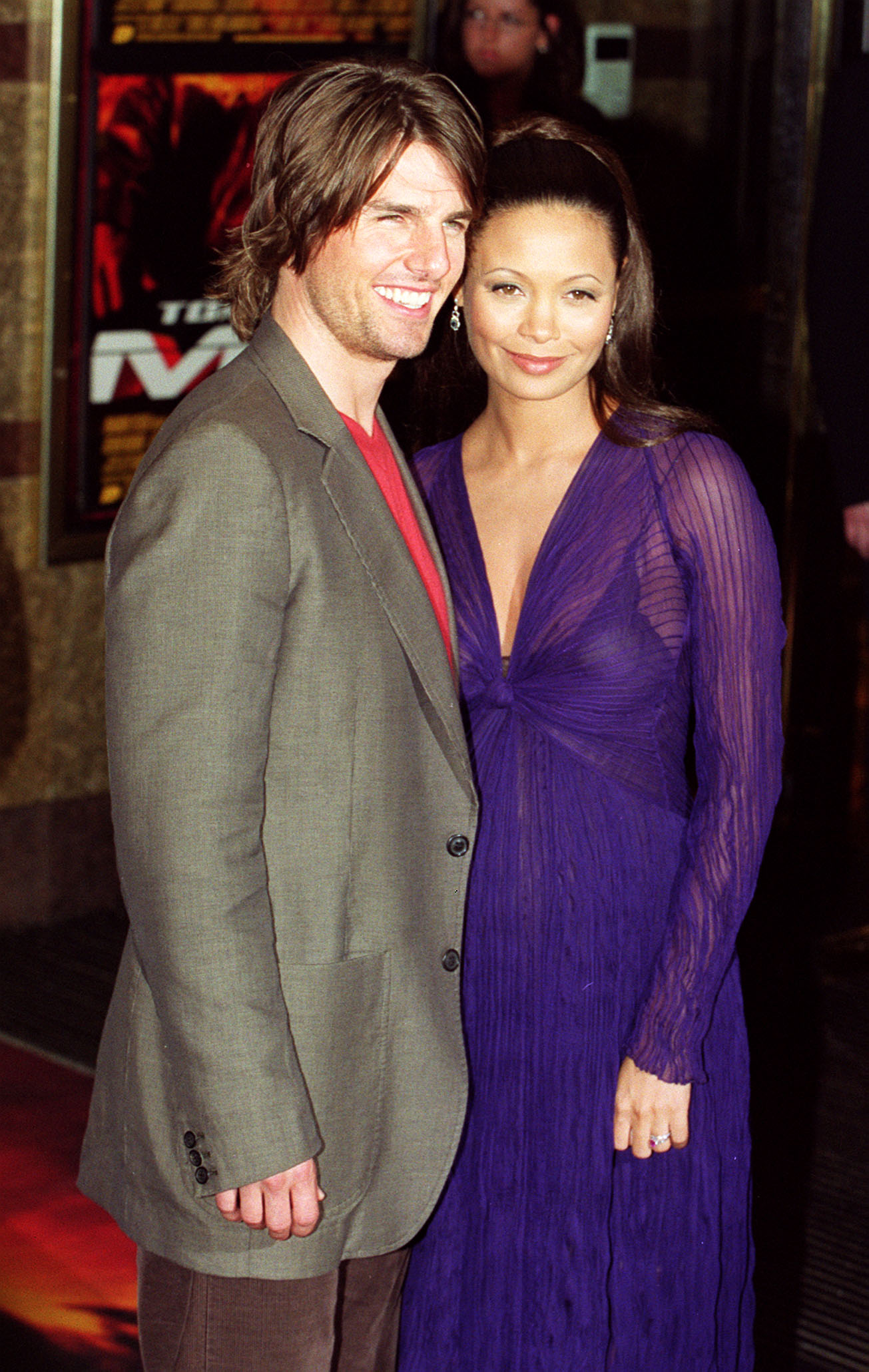 Thandie Newton Tom Cruise Mission Impossible premiere