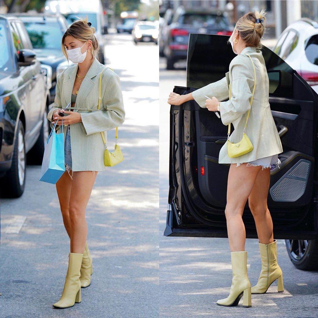 hailey bieber boots