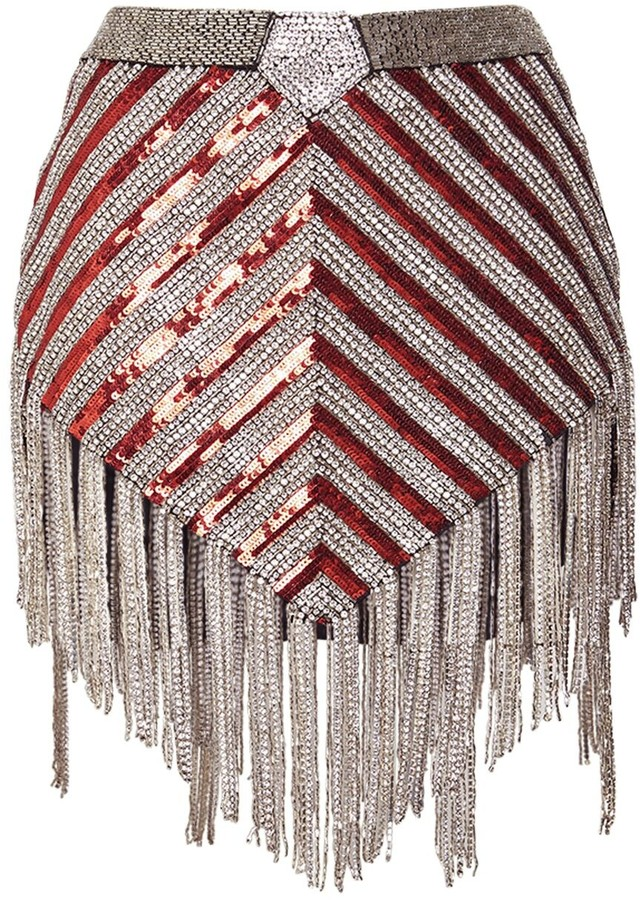 The Attico sequin skirt
