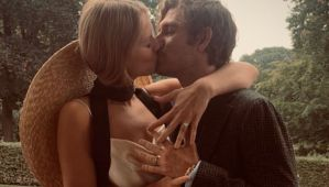 Toni Garrn Brings Back The Bridal Hat To Marry Alex Pettyfer