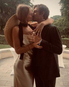 Toni Garrn Brings Back The Bridal Hat To Marry Alex Pettyfer