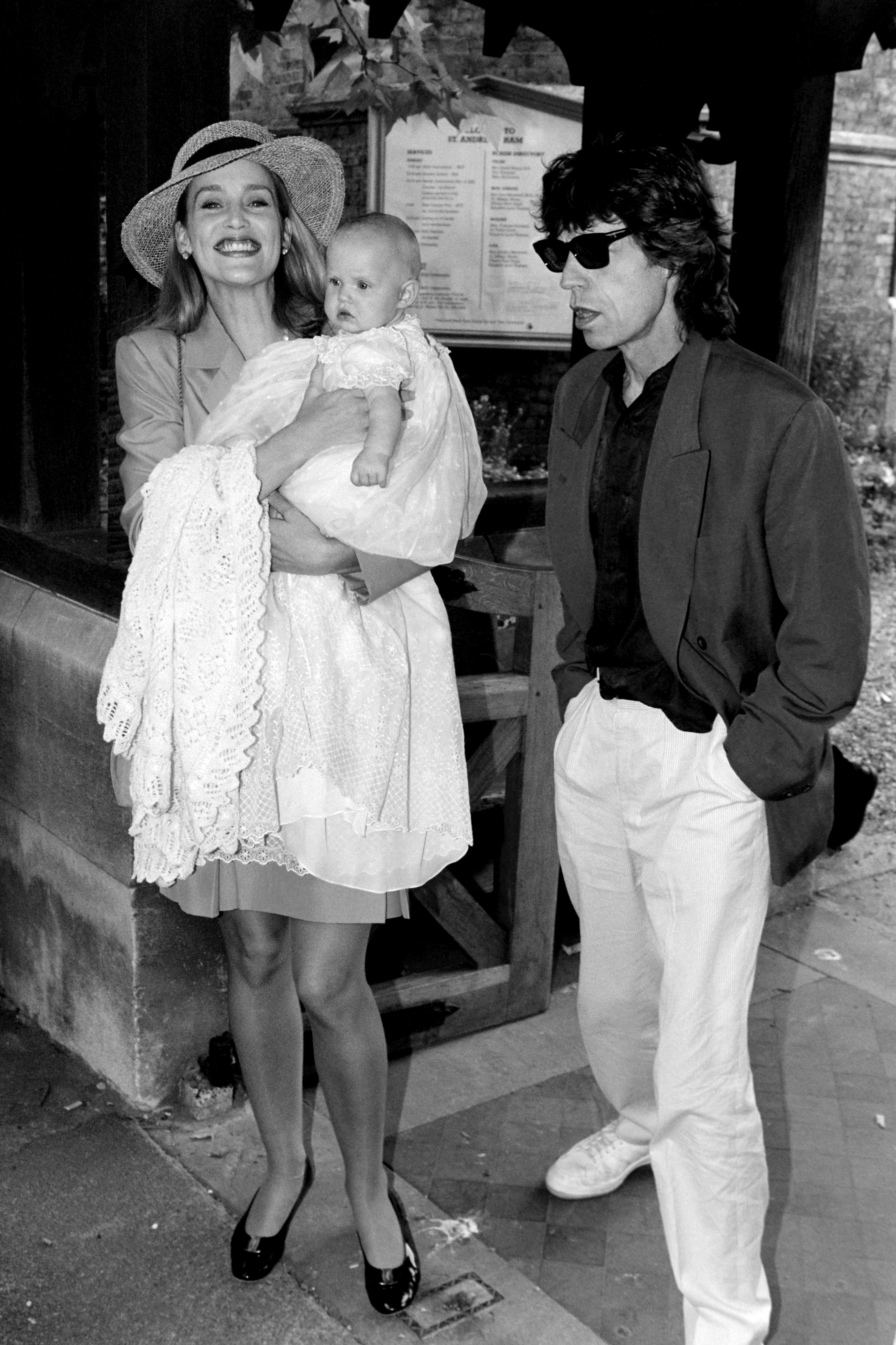 Georgia May Jagger Jerry Hall Mick Jagger christening