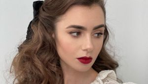 Lily Collins In Celine