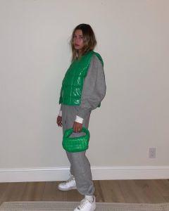 Hailey Bieber Bottega Veneta Green