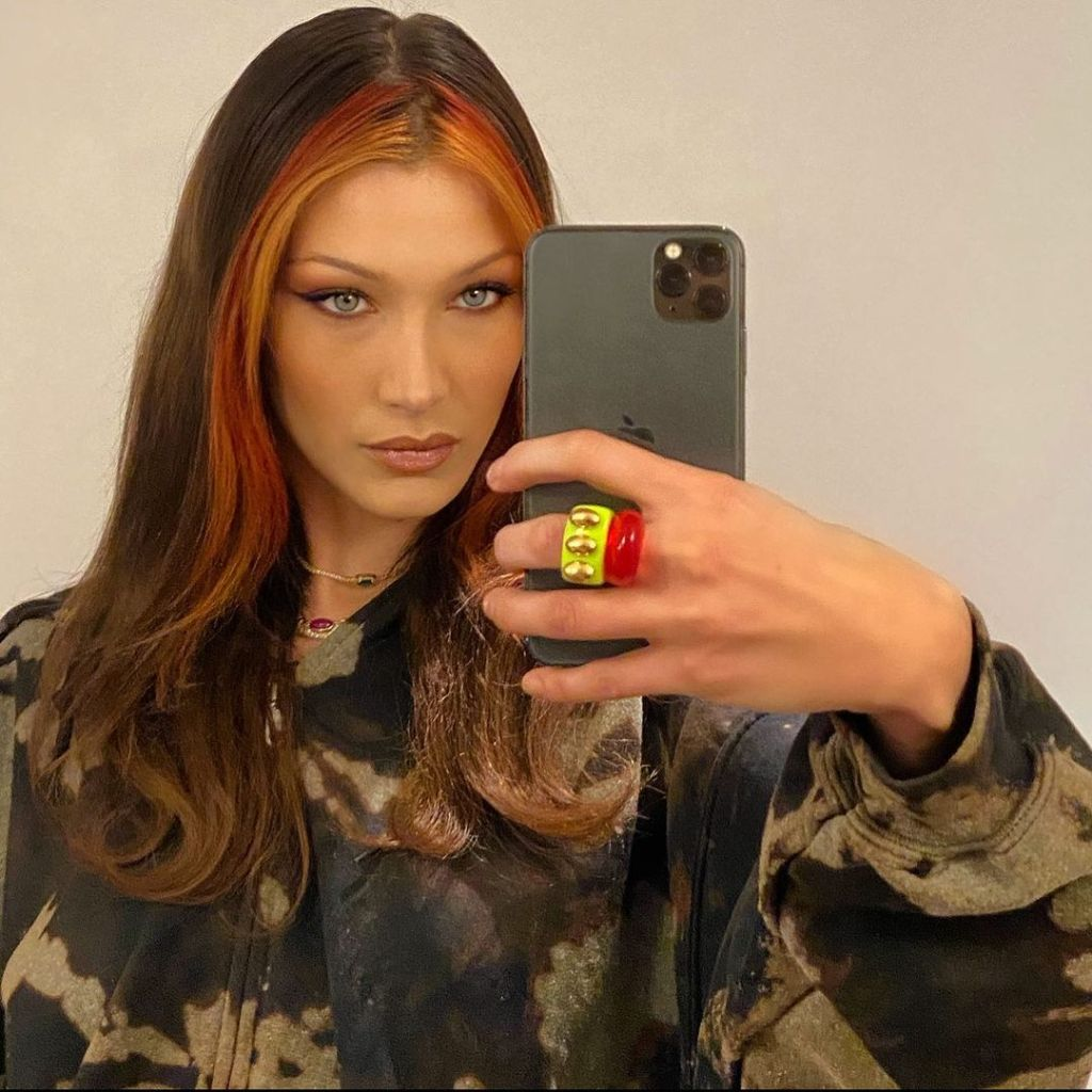 Bella Hadid Multicoloured Tendrils
